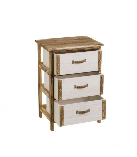 Nightstand Wood 2 Drawers
