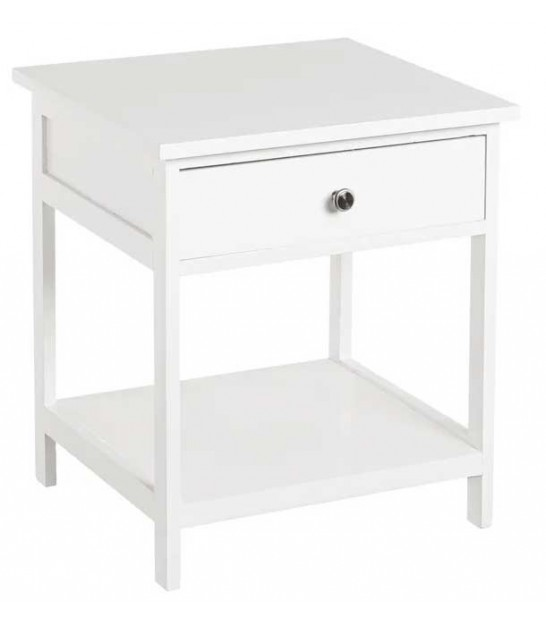 White Bedside Table Wood