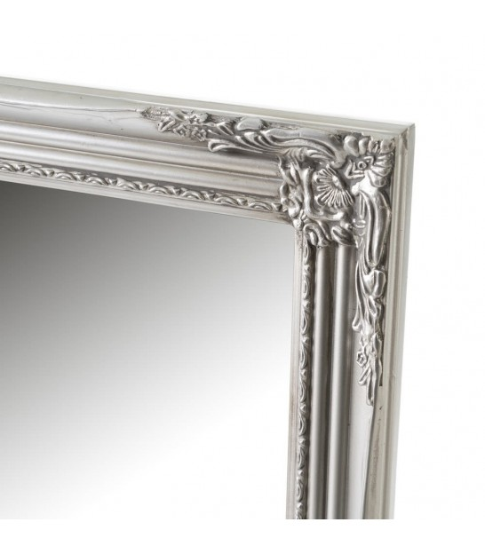 Classical Mirror Wood White and Gold - h162cm
