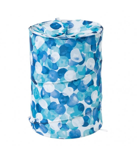 Laundry Basket Blue Dots