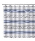 Shower Curtain Blue and White Shells Polyester 180x200cm