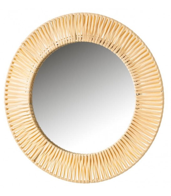 Round Mirror Exotic Fibers - 37cm