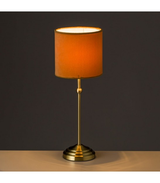 Table Lamp Grey Lampshade and Golden Metal - H45.5cm