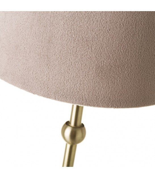 Table Lamp Orange Lampshade and Golden Metal - H45.5cm