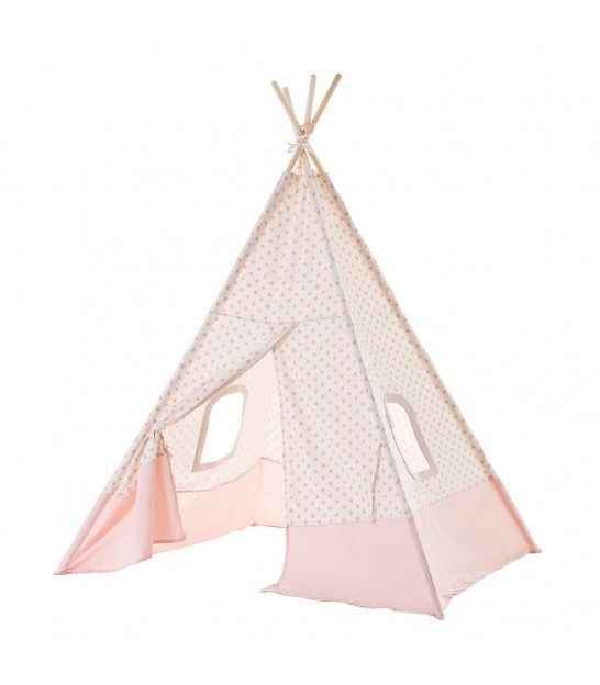 Children's Tipi Tent Grey and White
