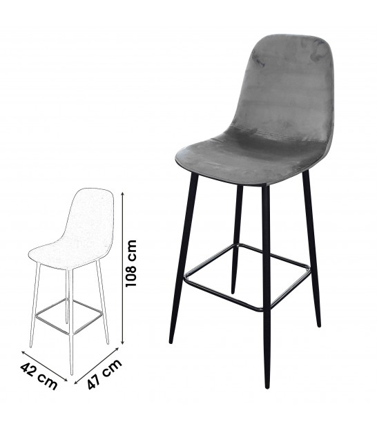 Bar Stool Metal and Brown Tissue