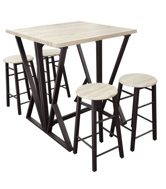 Bar Table + 4 Bar Stools