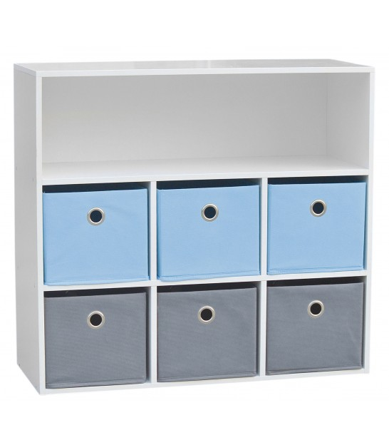 Kids Storage Shelf Blue - 76.5x29.5x70cm