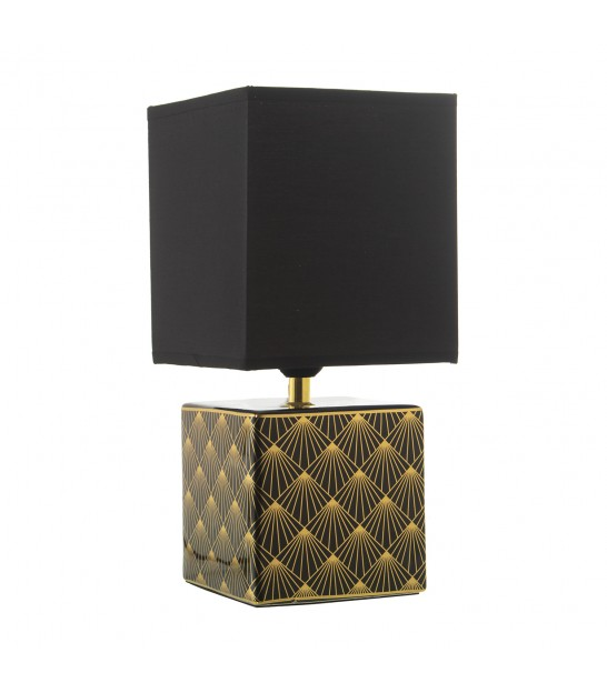 Table Lamp Black and Gold Metal Parrot