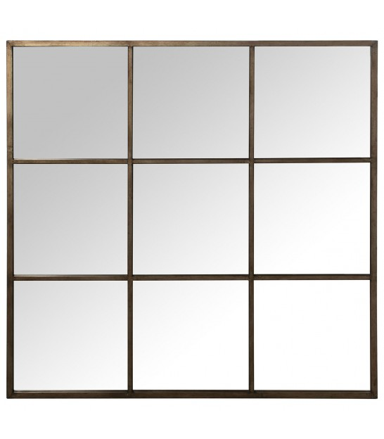 Mirror Black Metal - 90x90x3cm