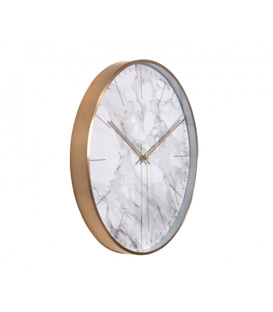 Round Wall Clock Marble Effect