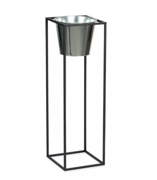 Plant Stand Metal Black and Silver - Height 80cm