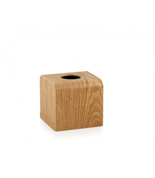 Tissue Box Willow Wood Square