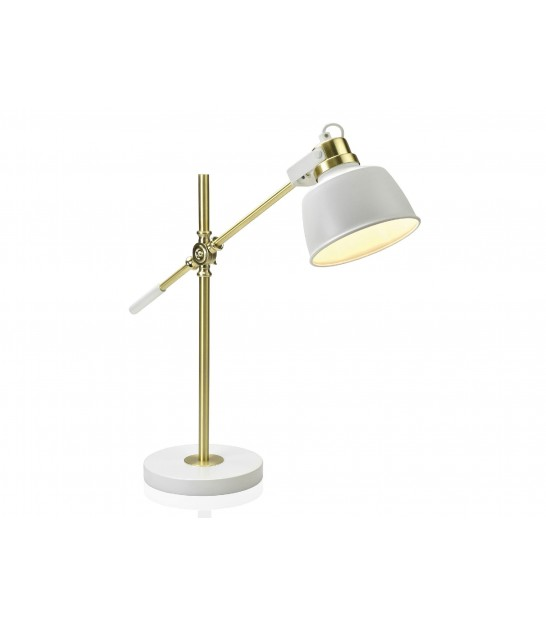Table Lamp Metal Black and Golden Brass