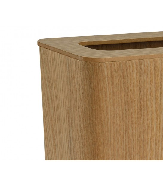 Office Trash Can in Ash Wood