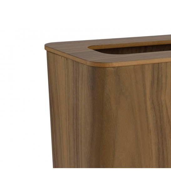 Office Trash Can in Ash Wood Rectangular