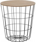 Wood and Metal Side Table - H41cm