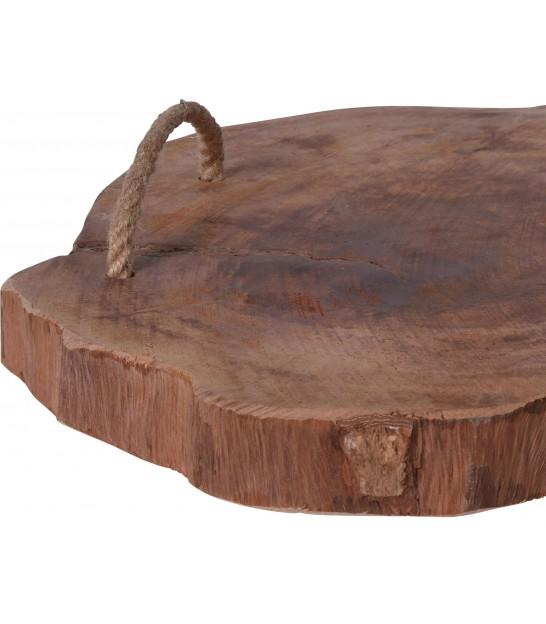 Décoration de Table Rondelle de Bois Naturel - Diamètre 31cm