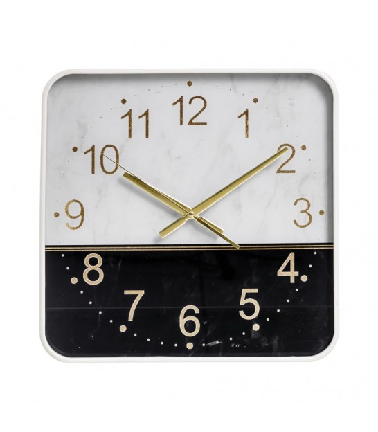 Gold Round Wall Clock Marble Effect