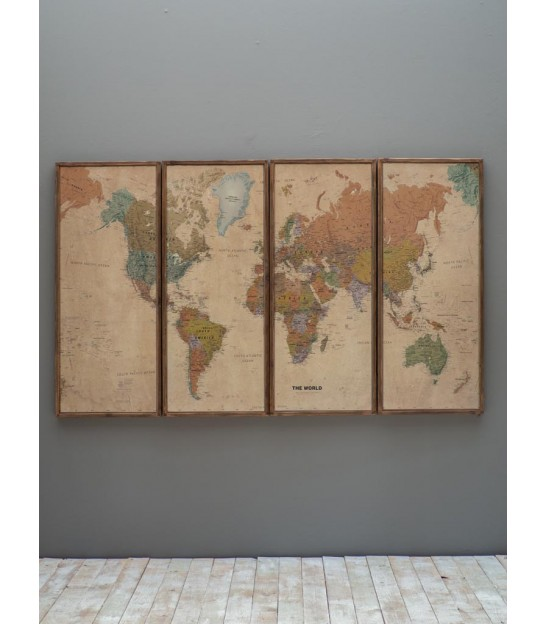 Wall Decoration Classical - World Map