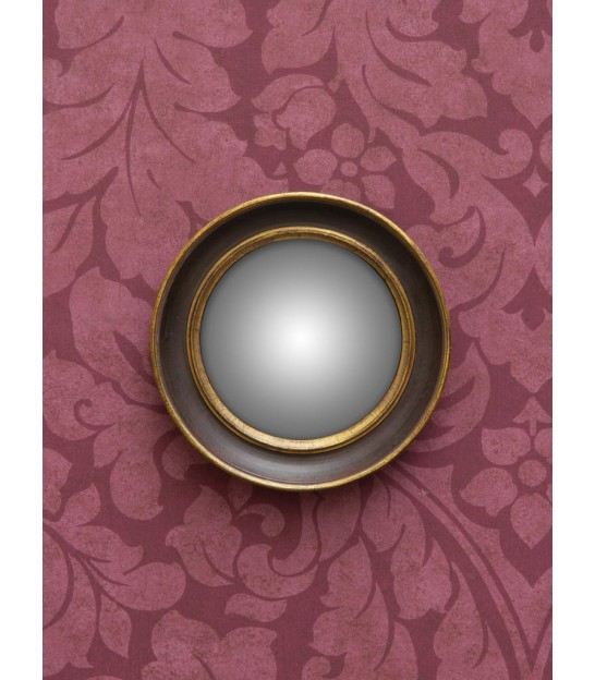 Round Wall Mirror Polyresin Convex