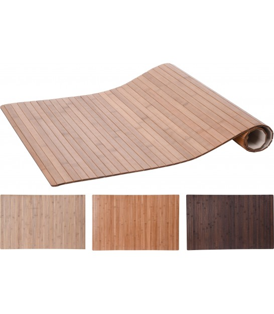 Set of 3 Bamboo Carpets - 50x80cm