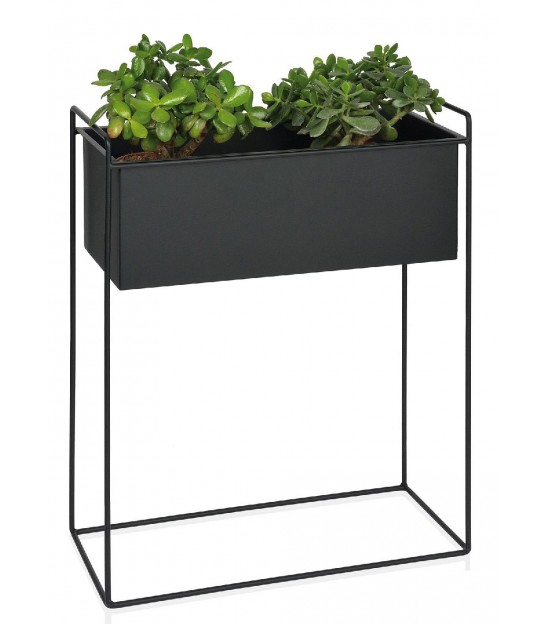 Plant Pot Black Metal