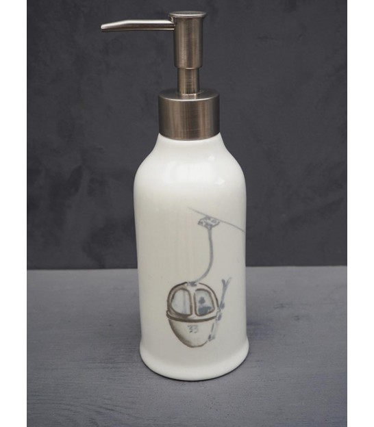 Wall Soap Dispenser Glass and Silvered Metal Cone