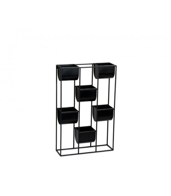 Wall Plant Pot Holder Black and Silver