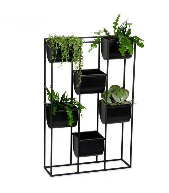 Wall Plant Pot Holder Black Metal
