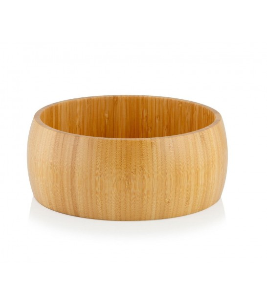 Bamboo Bowl + Service Cutlery