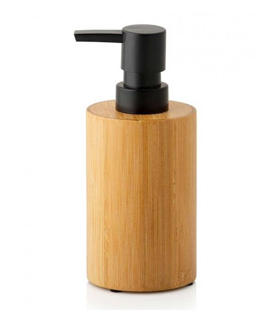 Soap Dispenser Polyresin White Marble Effect and Wood