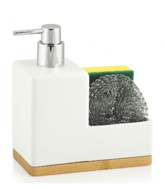 Soap Dispenser with Sponge Holder Black