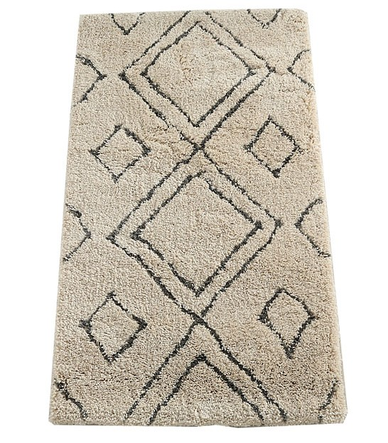 Rug Cotton White and Beige - 80x150cm