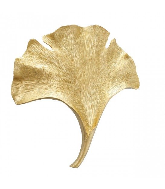Wall Decoration Gold Resin Ginkgo