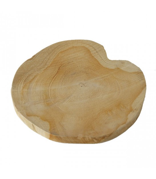 Décoration de Table Rondelle de Bois Naturel - Diamètre 25cm