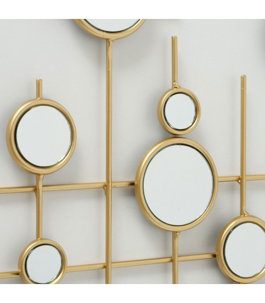 Wall Decoration Gold Metal and Mirrors
