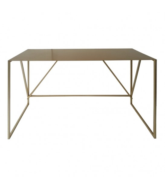 Desk Gold Metal - 119.5x50x73cm