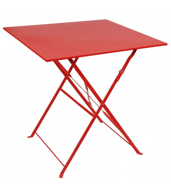 Red Square Garden Table Foldable