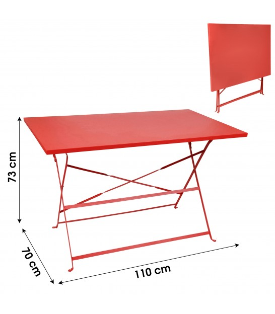 Blue Rectangular Garden Table Foldable