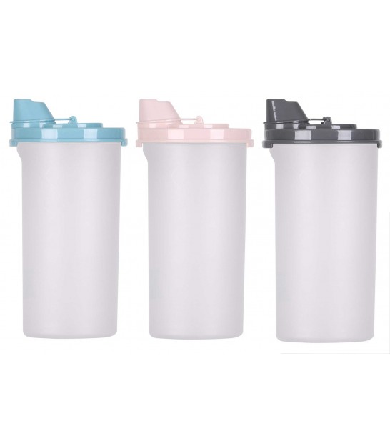Set de 3 Shakers à Vinaigrette - Rose, bleu, Gris
