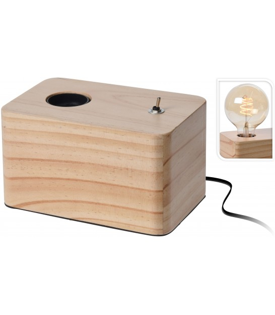 Square Table Lamp Wood