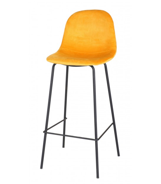 Bar Stool Metal and Red Tissue