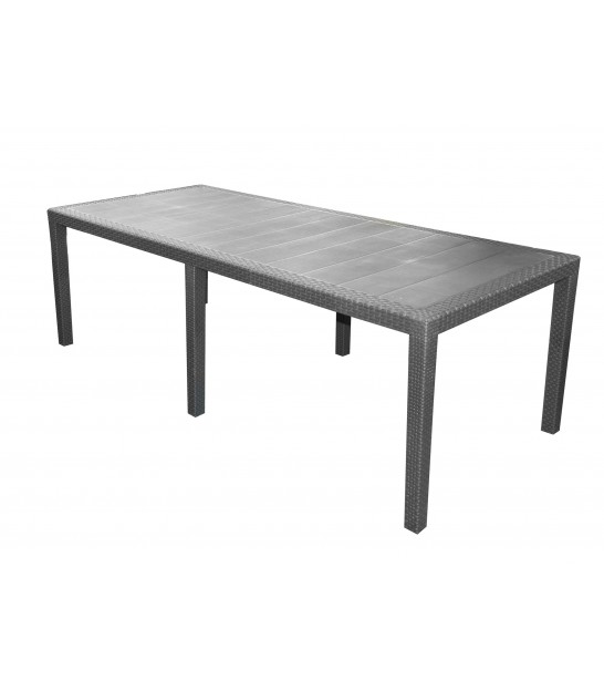 Red Rectangular Garden Table Foldable
