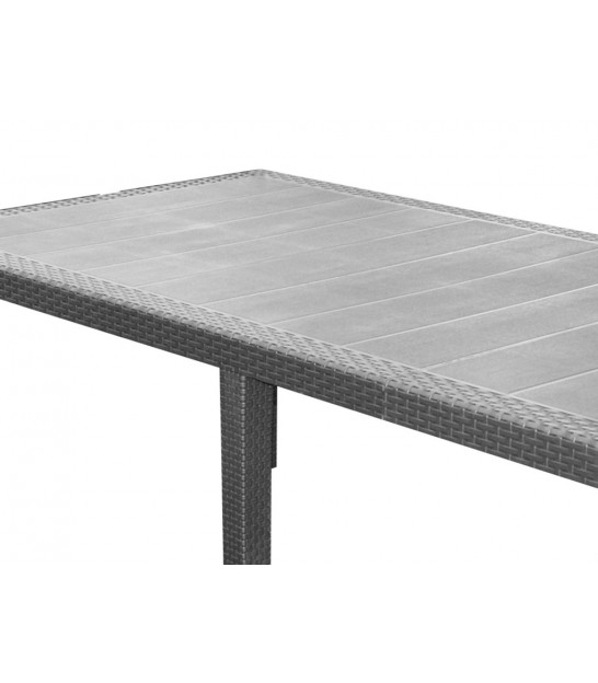 Grey Rectangular Garden Table - 220cm