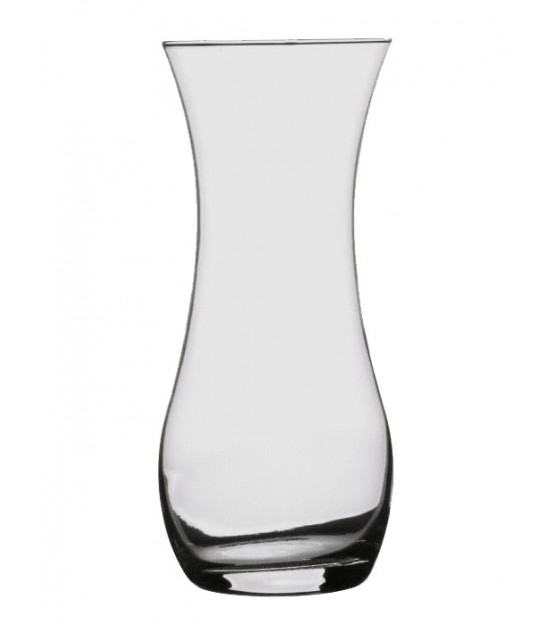 Round Glass Vase Conical Shape - H26cm