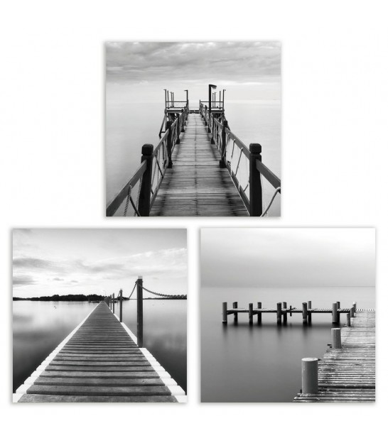Set of 3 Pictures Boards Sea