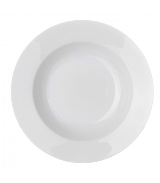 Set of 12 White Porcelain Dessert Plates -d. 19cm