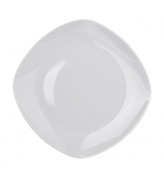 Square White Porcelain Plate