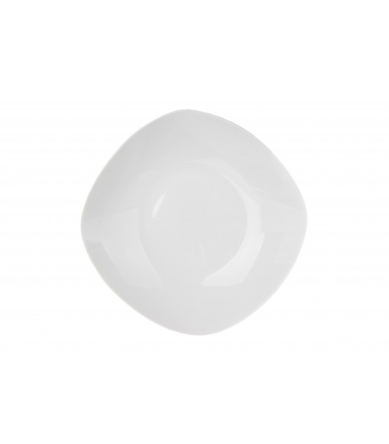 Set of 12 Square White Porcelain Dessert Plates
